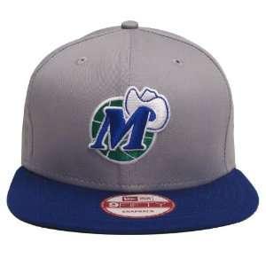Dallas Mavericks Retro New Era Logo Snapback Cap Hat Grey