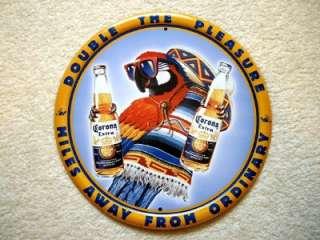 Corona Extra Beer Parrot Metal Tin Sign NEW