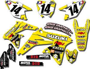 1999 2000 SUZUKI RM125 RM 125 GRAPHICS KIT 99 00 DECALS