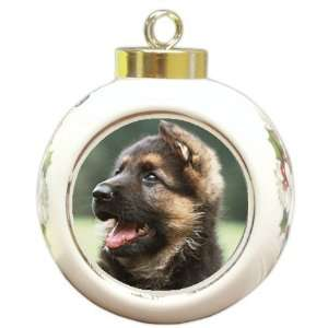 German Shepherd Puppy Christmas Holiday Ornament