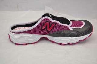NEW BALANCE WL801PR 801 (BNO) WOMENS PINK/BLACK/WHITE 10 SLIDE MULE