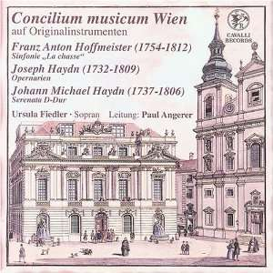 / Three Operatic Arias Hoffmeister, Haydn, Fiedler, Angerer Music