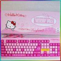 CUTE HELLO KITTY USB KEYBOARD STANDARD COMPUTER PC FREE POSTAGE