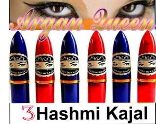 3pcs Herbal Hashmi Kajal Black Eye Liner Kohl Dry Stick