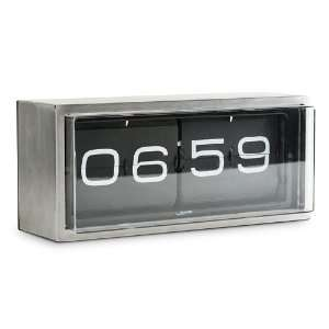 Leff Group   Brick Wall/Desk Clock Black Face