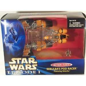 Star Wars Episode I Action Fleet   Sebulbas Pod Racer Toys & Games