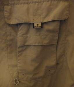 Columbia Mens Signature Beige PFG Fishing Shirt SZ XL Mint