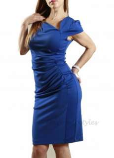 Blue Career Elegant Sheath Suit Pencil Long Skirt Formal Party