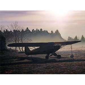 Anticipation   Sam Lyons   Piper J 3 Cub Aviation Art