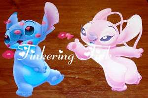 STITCH AND ANGEL WALL STICKERS LILO PAPER PIECING