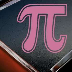 Pi Math Sign Symbol Pink Decal Car Truck Window Pink