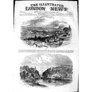 1850 VIEW BATH ENGLAND CLIFTON FERRY RIVER BOATS: Home
