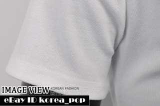 Korea_pop mens short sleeve casual shirts polo neck t shirt sz XS S M