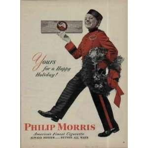 1946 Philip Morris Cigarettes Christmas Ad, A3759.