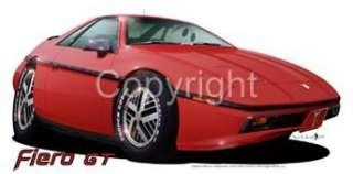 1984 Fierro GT Muscle Car Cartoon Tshirt #6640 pontiac GM NWT