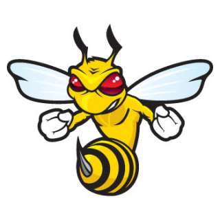 Angry Bee Attack Decals Stickers hornet vinyl XXWZZ