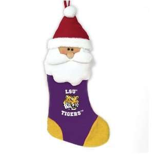 LSU Fighting Tigers 22 Baby Mascot Christmas Santa Stocking   NCAA