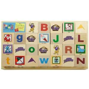 LSU Tigers Wooden Mascot Alphabet Blocks: Sports