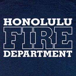 Honolulu Fire Department Hawaii Firefighter T shirt XL