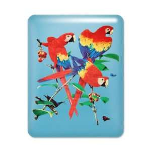 iPad Case Light Blue Family Of Parrots On Tree: Everything Else
