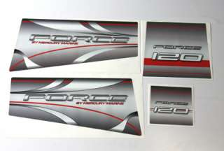 Mercury Force 120 outboard graphics/sticker kit