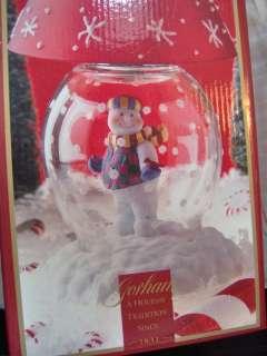 Gorham Winter Follies Snowman Globe Candle Lamp