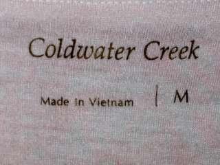 Coldwater Creek Womens Womens Top Shirt Blouse Size Sz M Med Medium