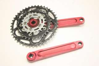 Retro Race Face Turbine Crankset   Anodized Red 22/32/44T 175mm Forged