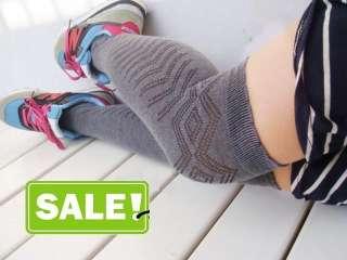 Girls Jacquard over the knee Socks Knee high socks Dark Grey