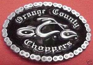 Orange County Choppers OCC Bike Oval Belt Buckle  New