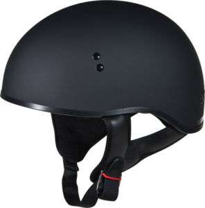 GMAX Motorcycle Half Helmet DOT Flat Black Medium Med M