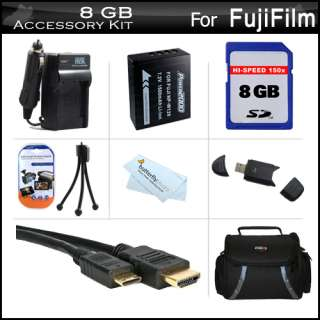 8GB Accessories Kit For Fuji Fujifilm X Pro 1, X Pro1 Digital Camera
