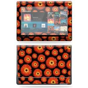 Vinyl Skin Decal Cover for Sony Tablet S Orange Flowers Electronics