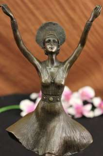 SIGNED CHIPARUS FOCUS BALLERINA BRONZE SCULPTURE STATUE