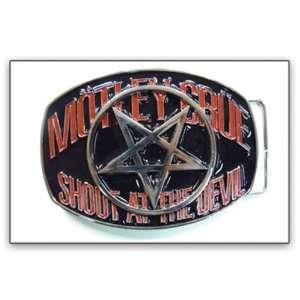 MOTLEY CRUE SHOUT AT THE DEVIL BELT BUCKLE