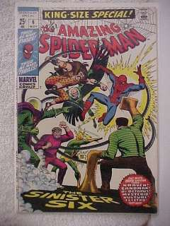 AMAZING SPIDER MAN KING SIZE SPECIAL # 6 NOV 1969 SINISTER SIX VF/NM
