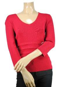 Petite Cable & Gauge 3/4 Sleeve Jeweled Top Sz PM $58