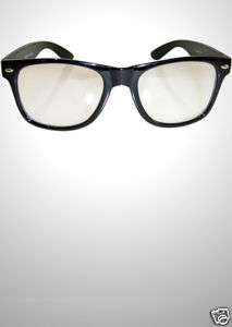 Geek Clear Glasses   High Quality Black Frames, Nerd, Retro, Big Size