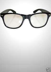 Geek Clear Glasses   High Quality Black Frames, Nerd, Retro, Big Size