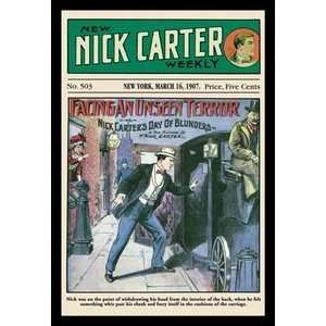 Nick Carter Facing an Unseen Terror   16x24 Giclee Fine