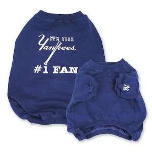New York Yankees Baseball #1 Fan Dog Puppy Pet Shirt LARGE