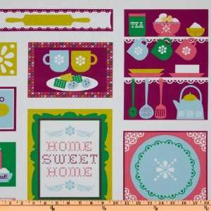 44 Wide Happy Home Home Sweet Home Meadow Fabric By The
