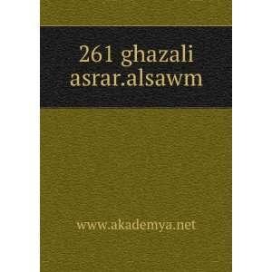 261 ghazali asrar.alsawm www.akademya.net Books