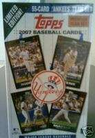 2007 Topps New York Yankees Gift Box Set 55 Cards Ltd