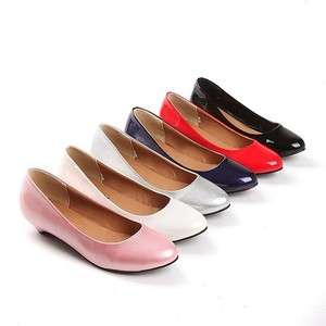 2012 New Spring Fashion Round Toe Womens Shoes Low Heels Ladies Wedge