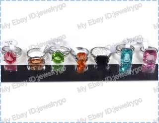 lots jewelry 30pcs Crystal Zircon silver rings MIX LOTS