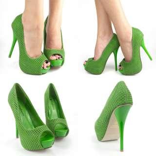 dark blue high heel platform pump women shoes 7 us
