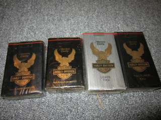 HARLEY DAVIDSON VINTAGE COLLECTOR CIGARETTES (4 PACKS)
