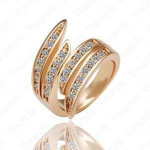 Unique 18K Gold Plated 18K GP Swarovski Crystal Women Wedding Charm