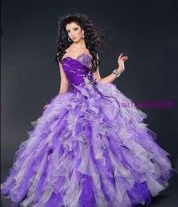 Graceful Purple Quinceanera Wedding Dress Evening Dress Bride Ball